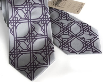 2 custom microfiber color groomsmen neckties, vegan-safe - matching ties, same design.