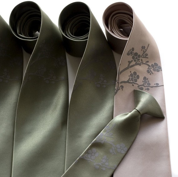 4 Wedding Ties Mens Neckties Groomsmen Matching By Cyberoptix