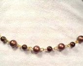 Necklace Chocolate Swarovski Pearl Choker