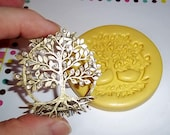 TREE Flexible Mold Mould For Resin Paper Clay Sculpey Fimo Polymer Premo Wax Chocolate F175