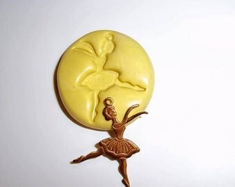 BALLERINA Mold Mould For Resin Paper Clay Sculpey Fimo Polymer Premo Wax Chocolate Dollhouse (M162)