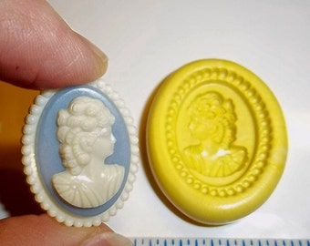 Victorian CAMEO Flexible Push Mold Mould For Resin Polymer Clay Chocolate - Food Safe Silicone J215