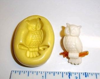 OWL Flexible Push Mold Mould For Resin Clay Chocolate - Food Safe Silicone -  A174