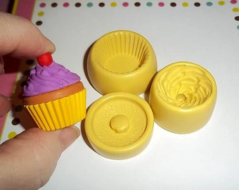 Cupcake Flexible Mold Mould For Resin Paper Clay Sculpey Fimo Polymer Premo Wax Chocolate  E302