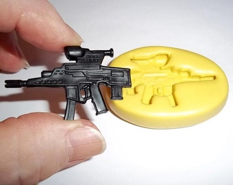 Gun Flexible Mold Mould For Resin Paper Clay Sculpey Fimo Polymer Premo Wax Chocolate Fondant  M456