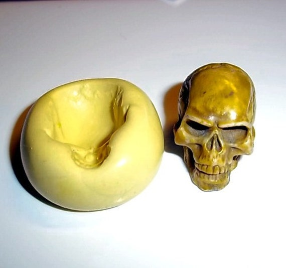 SKULL Mold Flexible Push Mould For Resin Paper Clay Sculpey Fimo Polymer Premo Wax Chocolate Fondant (M200)