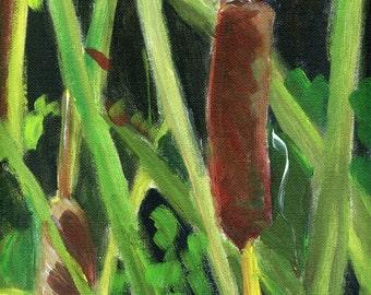 Cat O Nine Tails acrylic on canvas