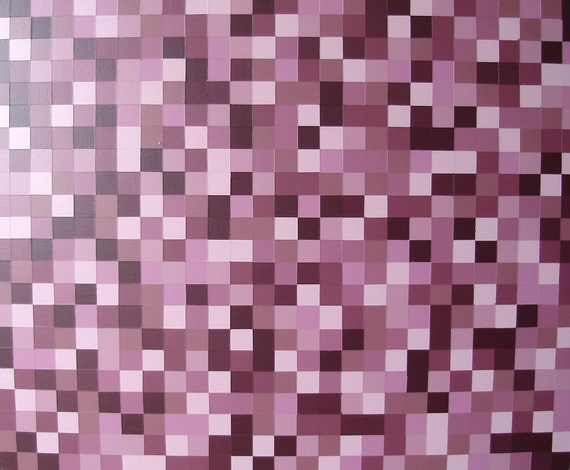 ORIGINAL Painting Modern Redish Brown Wall Decor Monochromatic Art Abstract Squares Artwork 27x22 Acrylic Painting On Wood