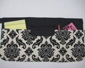 MADISON Multi Purpose Apron in Black and White Damask - for Arts and Crafts Festivals