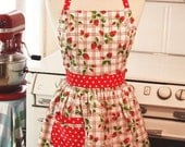 The CHLOE Vintage Inspired Picnic Strawberry Full Apron