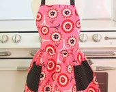 Retro Child Apron Pink Candy Flowers