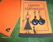 Halloween Earings and Gift Card