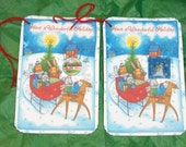 8 CHRISTMAS Gift TAGS  Large With MAGNETS c2