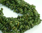 Peridot beads - peridot large nugget strand - 8mm to 15mm diameter - 16 inch strand