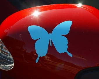 Butterfly graphic car sticker vinyl decal in 4 inch size--quantity of 3