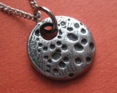 Hand Cast Pewter Moon Charm