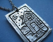 Handcast Pewter -You Are My Home Pendant
