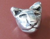Handcast Pewter Leo Button