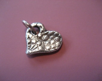 Handcast Pewter Love Lace Charm