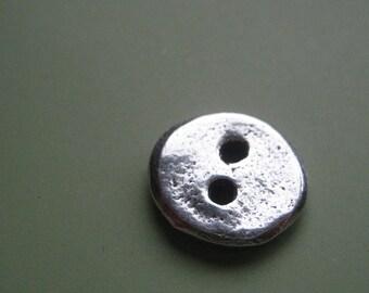 Hand Cast Pewter Plain Jane Button