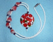 Sweet Cherries Red & White Necklace