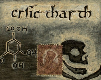 """FUNDRAISER for Doctors Without Borders: """"Gaelic Acid Repose"""",  Original Mixed Media Painting"""