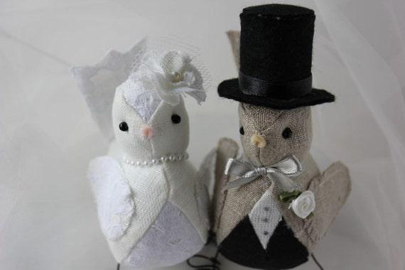 Wedding Cake Topper Love Birds Made to order