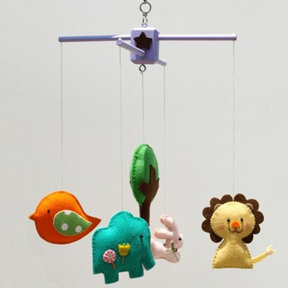 SAFARI QUEST Decorative Mobile Hand-Crafted for the Home, Playroom or Nursery - Made to Order