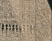 Oatmeal cotton-linen handwoven scarf or sash belt