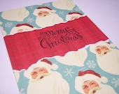 Christmas Card, Christmas Greeting Card, Handmade Christmas Card, Greeting Cards, Christmas Greeting, Santa Card