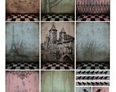 Digital Collage Sheet   Checkered Floors