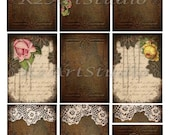 Digital Collage Sheet  Rusty Backgrounds