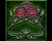 Mackintosh Roses Decorative Ceramic Tile