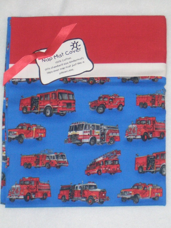Fire Trucks Nap Mat Cover