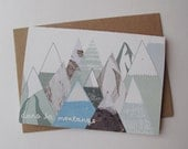 in the mountains card