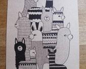 alpaca print