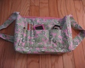 Pink 'n Green Paisley Messenger Bag