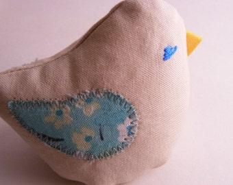 Plush Bird - Little Bean Bird named Mint Lily