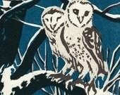 Winter Owls Card