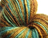 UK Silly Sale 40% Off Perran Yarns - Mighty Oak - hand-dyed 4ply sock fingering BFL superwash wool knitting crochet yarn