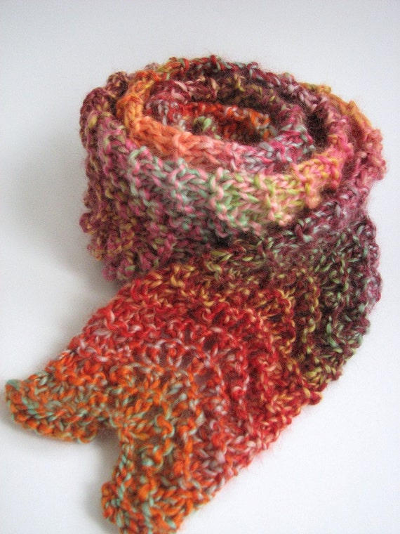 Bulky scarf knitting pattern pdf Chunky Ripple Lace easy