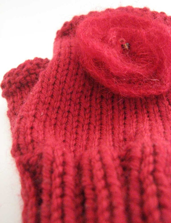 Fingerless Gloves Knitting Pattern Magic Loop : Fingerless Mitts knitting pattern pdf, aran worsted yarn ...