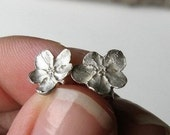 Handmade Sterling Silver Forget Me Not Flower Earrings - Ready to Ship