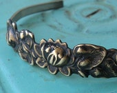 Lotus Lily Pad Cuff Bracelet - 1 of 2 made - Ready to Ship