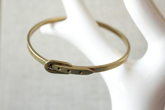 belt bracelet bangle in vintage brass for office fashion