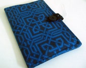 Kindle 2 Book Style Cover - Blue and Black Celtic Knots