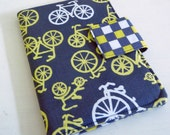 Made to Order - iPad, Kindle, Nook or Kobo Cover - Citron and Grey Bicycles