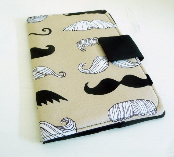 Kindle Fire, Nook Cover - Mustaches, Moustaches
