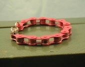 Pink Bicycle Chain Bracelet