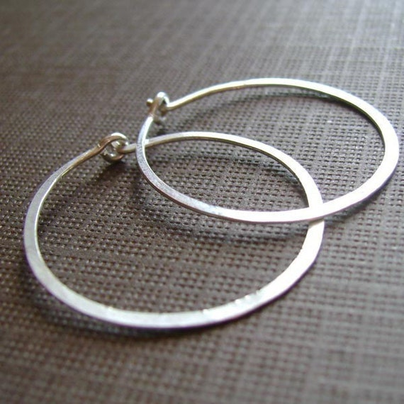 Eva Hoops - Sterling Silver Small 20mm